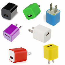 AC Power Plug USB Wall Charger Adapter for iPhone 5 5S 4 4S iPod Touch