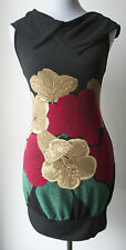 Aryeh Anthropologie Hibiscus Flower Print Sweater Dress-S M L- COMFY & ADORABLE!