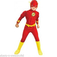 Boys The Flash Deluxe Muscle Superhero Book Day Fancy Dress Up Costume Outfit