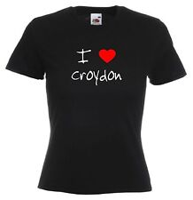 I Love Hearts Croydon Ladies Fitted T-Shirt