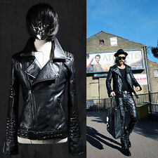 ByTheR Black Stud Rider Jacket Glossy Chic Stylish Modern SFSELFAA0016715