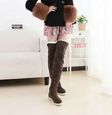 NEW Hot Sell Women's Fashion Over the Knee Flat Heel Warm Winter Long Boots