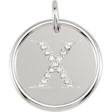 Posh Mommy Jewelry Initial X Roxy Pendant with Diamonds, Silver or 14K Gold
