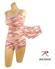 """Women's Underwear Baby Pink Camo """"Booty Camp"""" Booty Shorts & or Tank Top"""