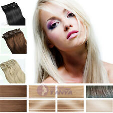 NEW!10pcs 140g Set Clip in Real Remy Human Hair Extension 3 Lengths and 20 Color