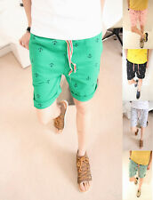 Korean Stylish New Fashion Mens Casual Cropped Trousers Color Printed Short Pant