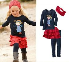 Hot Sell Spring Kids Girl 4 Pcs Set T-shirt +Skirt Set Leisure Outfit 0-5Y 0513
