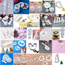 Fondant Cake Cupcake Decorating Sugarcraft Tools Mould Plunger Cutter Smoother