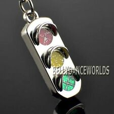 TRAFFIC SIGNAL LIGHTS 3D KEYCHAIN KEY CHAIN FOB RING HOLDER NOVELTY CLASSIC GIFT