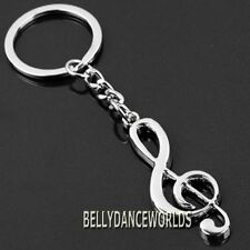CUTE MUSICAL NOTE SYMBOL KEYCHAIN KEY FOB CHAIN RING HOLDER CLASSIC FASHION GIFT