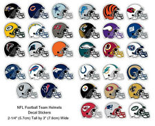 Football Helmet NFL Decal Sticker Team Logos Licensed Choose from all 32 Teams