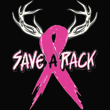Save A Rack Breast Cancer Awareness Ribbon Hunting All Sizes & Colors