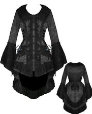 VICTORIAN EDWARDIAN BLACK JACKET DAMASK TAIL COAT CORSET GOTHIC STEAMPUNK
