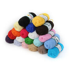 Wholesale! Soft Natural Bamboo Cotton Knitting Yarn Fingering 20 Colors