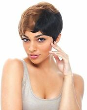 H/H MOMMY 3 BY JANET COLLECTION 100% REMY HUMAN HAIR FULL WIG SHORT WAVY