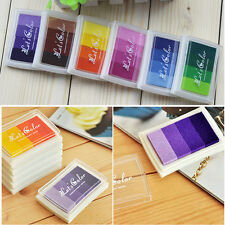 Craft Rubber Stamps Wood Paper Fabric DIY Ink Pad Oil Based 4Colors Gradient 1PC