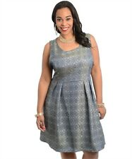 Ja [ Sleeveless mid-length dress featuring a floral design print - fully lined ]