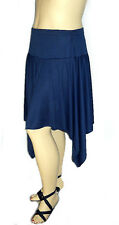 Womens SeXy Plus Size Clothing Navy Blue Asymmetrical Skirt 1X, 2X, 3X, 4X, 5X