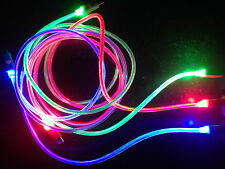 "39"" LED GLOW EL light charge USB data charger cable FOR apple iphone 4S ipod 6 5"