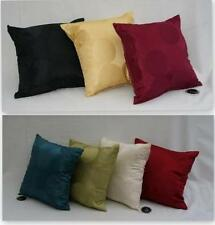 "2 x 17"" Filled Radius Teal Red Black Gold Cream Wine Green Cushions + Covers"