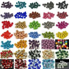 Half Drilled 10Pcs Czech Crystal Rhinestones Pave Clay Disco Round Ball Beads