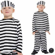 Prisoner Boy Costume - Kids Convict Criminal Cops And Robbers Fancy Dress Outfit