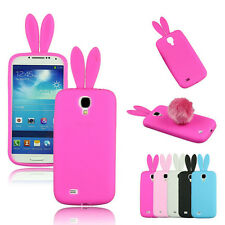 Hot Sale Bunny Rabbit TPU Soft Back Cover Skin Tail For Samsung Galaxy S4 i9500