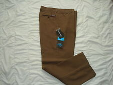 New Stromberg Vimeiro Funky Brown Tweed Mulberry Check Nano Golf Trousers
