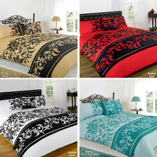 Asha Duvet Quilt Bedding Bed In A Bag Cushion Cover Runner - All Colours & Sizes