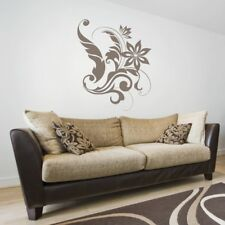 SWIRL wall stickers flower lounge living room bedroom leaf sticker vinyl decal
