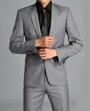 SA16 New Men's Fashion Dress Casual Business Slim fit Complete Suits