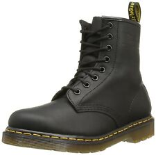 Dr. Martens Men's 1460 Casual Lace Up Leather Ankle Boots Black Greasy