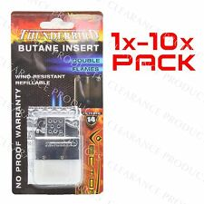 Vector Butane Insert - Thunderbird Dual Jet Torch Flame for Flip Top Lighter Lot