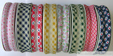 PATTERNED 25mm 1 INCH COTTON BIAS BINDING TAPE FULL ROLL