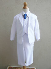 Teen YouthToddler White boy formal suit ring bearer bridal party graduation prom