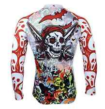 Colorful Skull Men Sports Jersey Cycle Long Sleeve Jersey Cycling Clothing