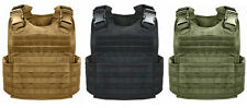 Rothco MOLLE Plate Carrier Vest - Black or Coyote Tan or Olive Green