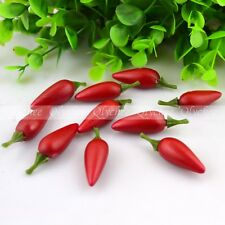 3D Cute Fake Red Chili Vegetable Artificial Fruit House Party Kitchen Decor Gift