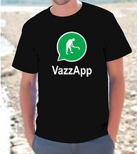 "T-SHIRT MAGLIETTA  S - M - L - XL  ""VAZZAPP"" FUNNY WHATSAPP IPHONE UOMO DONNA"