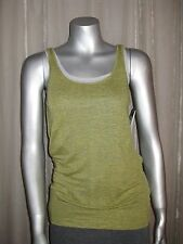 $118 EILEEN FISHER Lime Linen Jersey Mini Stripe Long Cami XS S M L XL NWT