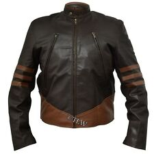 X-Men Wolverine Leather Jacket in FAUX and Sheep Napa , All sizes, Fast shipping