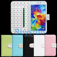 Stylish Polka Dot Interior Wallet Leather Cover Case for Samsung Galaxy S5