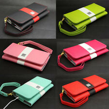 Rainbow Deluxe Wallet Leather Bag Case Cover Handbag For Nokia Lumia Many Models