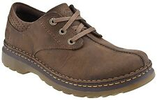 Dr. Martens Men's Nevin Casual Robson Lace Up Leather Oxford Shoes Dark Taupe