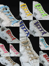 """Athletic 1/4"""" Oval Shoelaces Sport Sneakers Boot Tennis Shoe Strings Neon Colors"""
