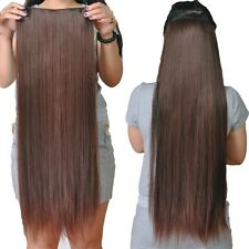 Full Head One Piece Clip In 100% Remy Human Hair Extensions Hair pieces 100g