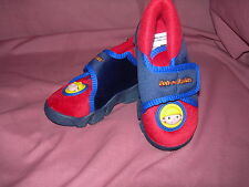 Boys Bob the Builder Velcro Boot Slippers Blue/Red Sizes 5-10 Available