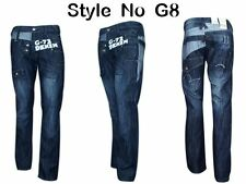 Hommes G72 concepteur Straight Regular Fit Jeans Denim Light & Dark laver