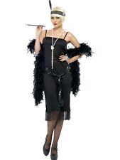 LADIES FRINGE FLAPPER 20s CHARLESTON RAZZLE SEQUINED FANCY DRESS COSTUME OUTFIT