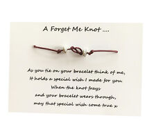 Friendship Wish Bracelet, Forget Me Knot, Work / School leavers gift